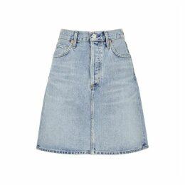 Citizens Of Humanity Lorelle Light Blue Denim Mini Skirt