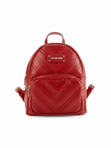 Chevron Faux Leather Backpack