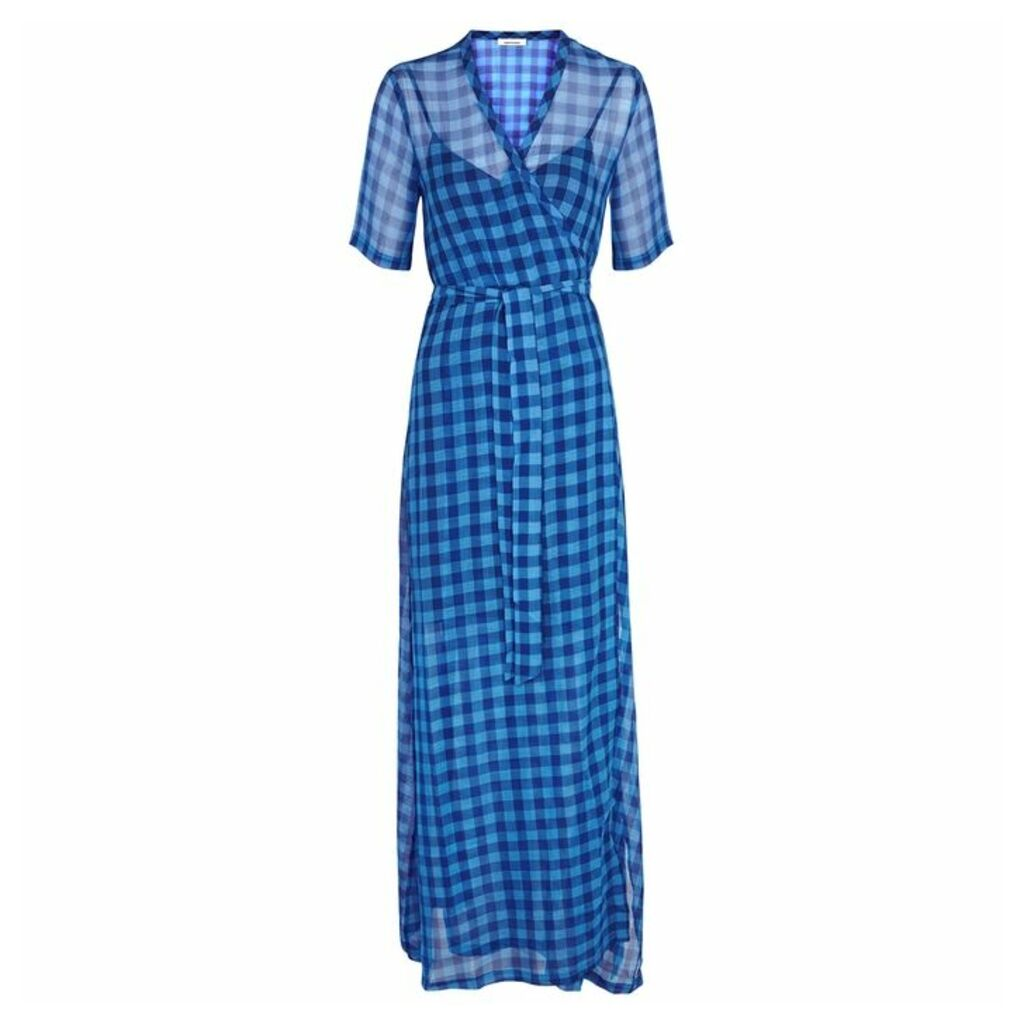 Samsøe & Samsøe Mante Gingham Chiffon Maxi Dress