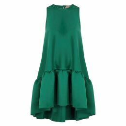No.21 Forest Green Satin Mini Dress