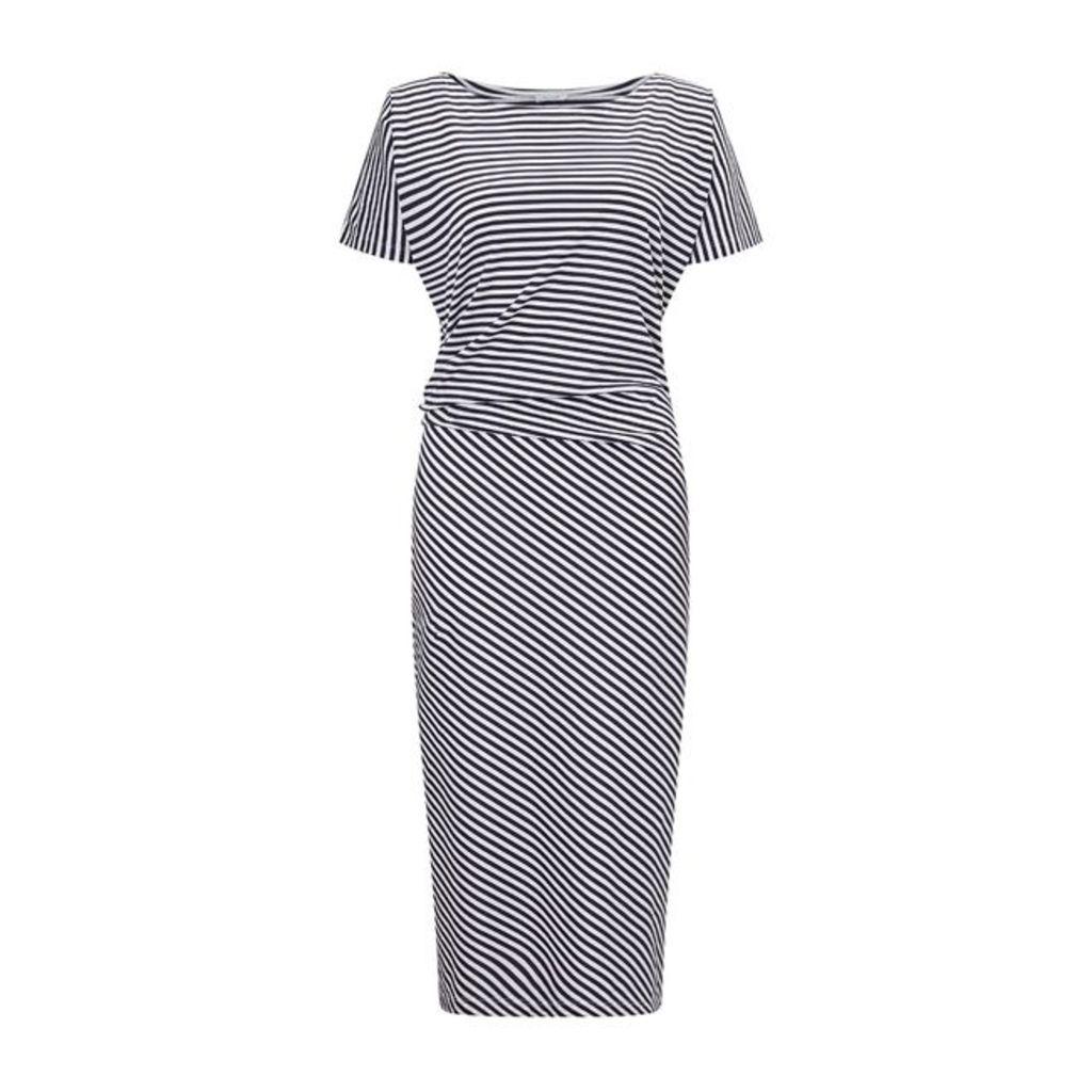 Jigsaw Stripe Asymetric Dress