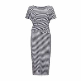 Jigsaw Stripe Asymetric Dress