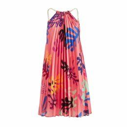 WtR Mina Coral Printed Pleat Dress