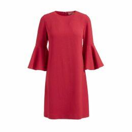 WtR Clarice Red Ruffle Sleeve Dress