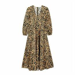 Zimmermann Veneto Leopard-print Linen Dress
