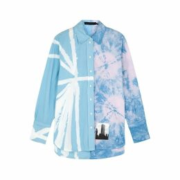 Proenza Schouler Tie-dye Appliquéd Cotton Shirt