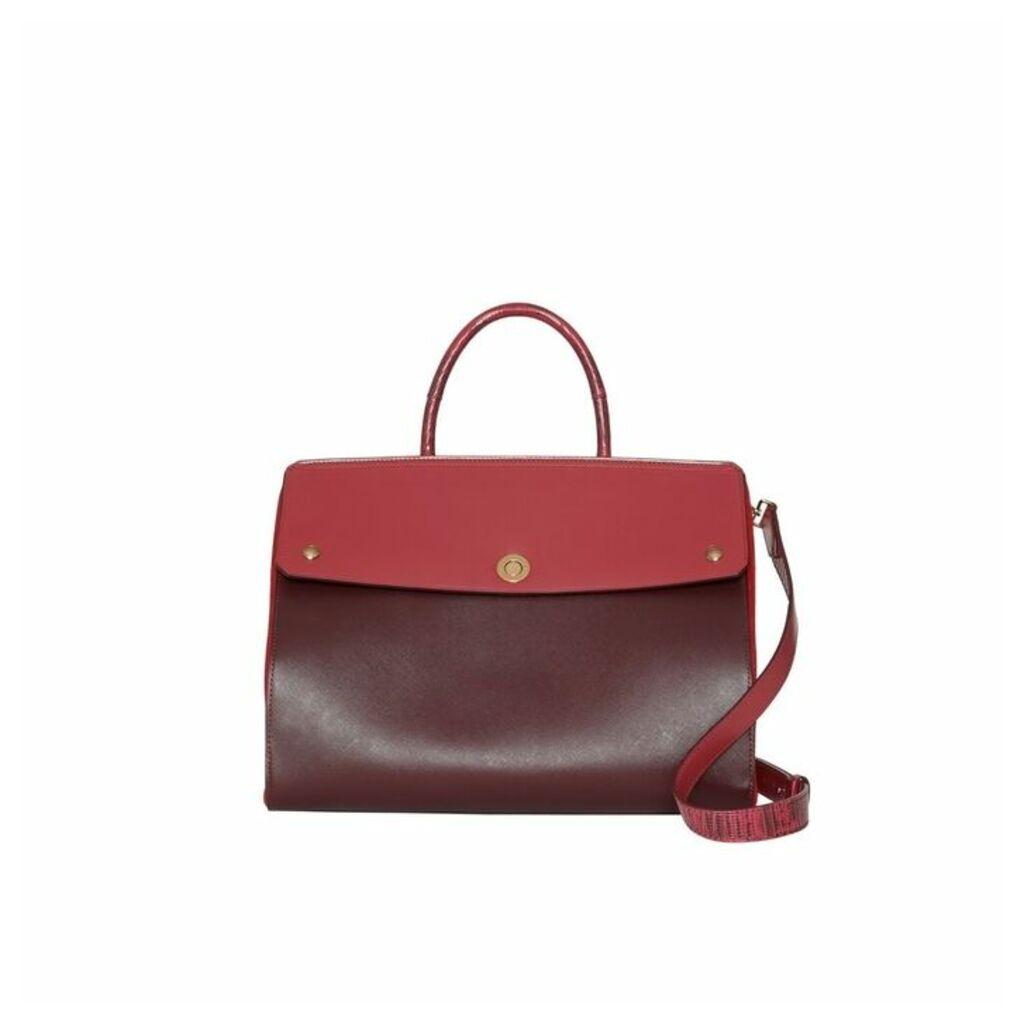 Burberry Medium Leather And Suede Elizabeth Bag