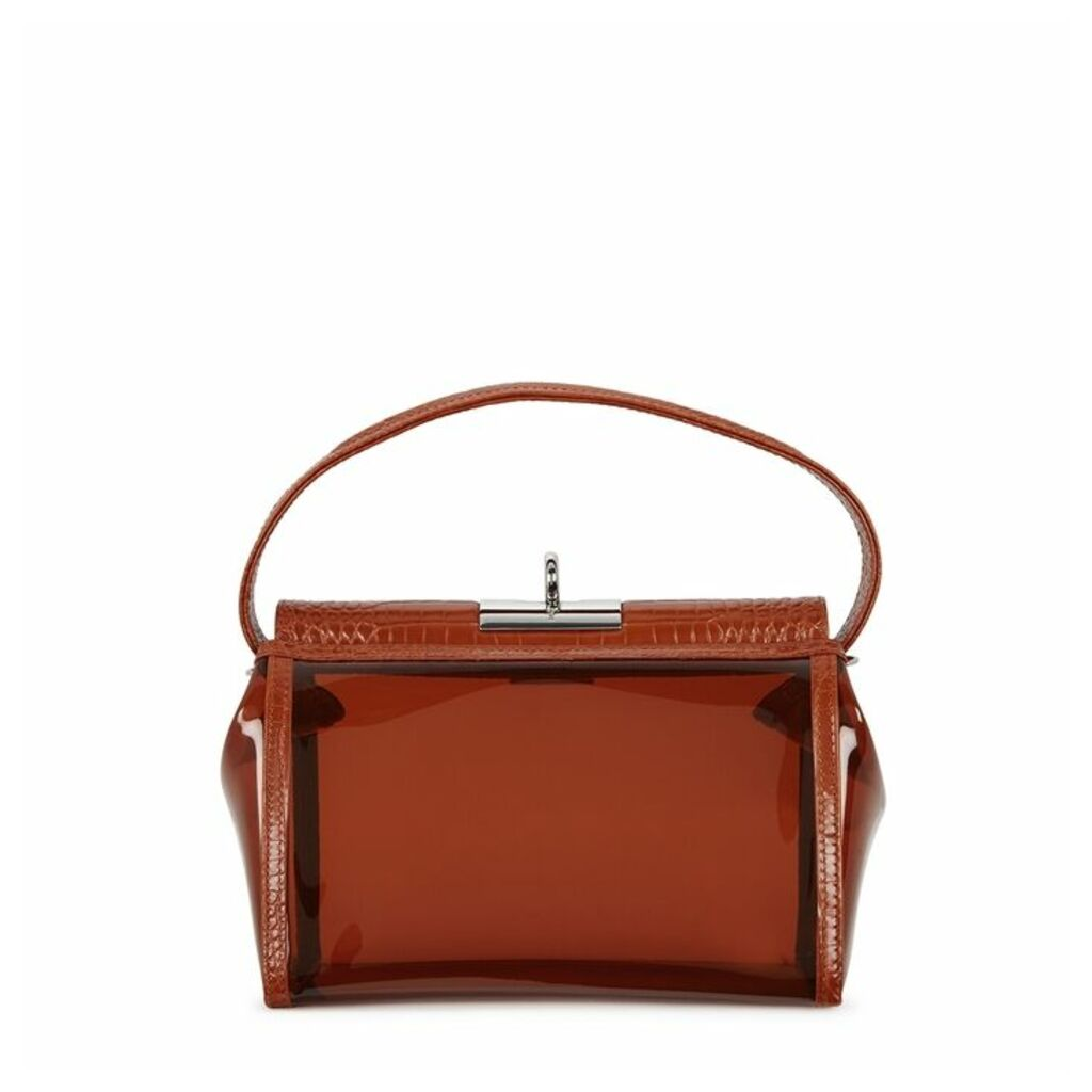 GU DE Water PVC And Leather Top-handle Bag