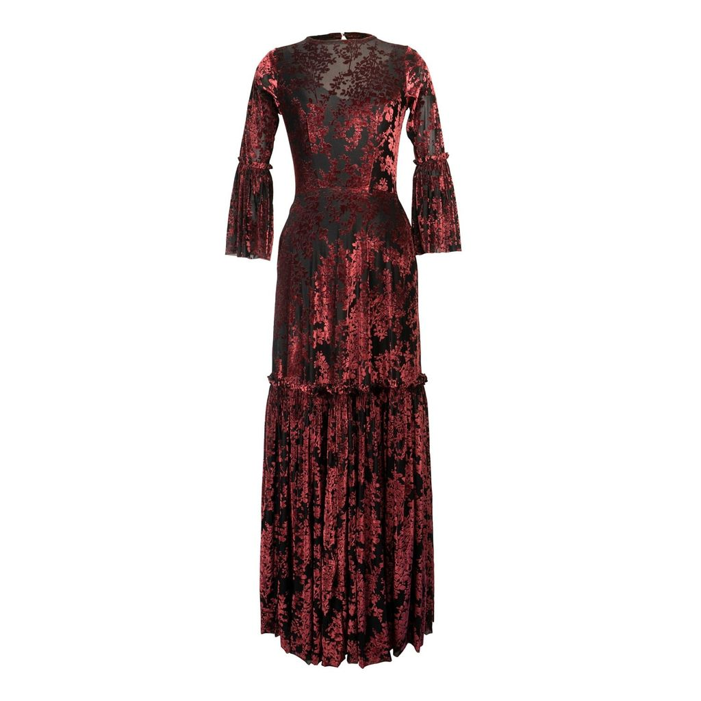 Baukjen - Kaia Top In Light Blue Meadow Foral