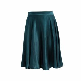 WtR - Journey Green Satin Midi Skirt
