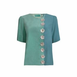 Manley - Taby Leather Embellished Top Mint
