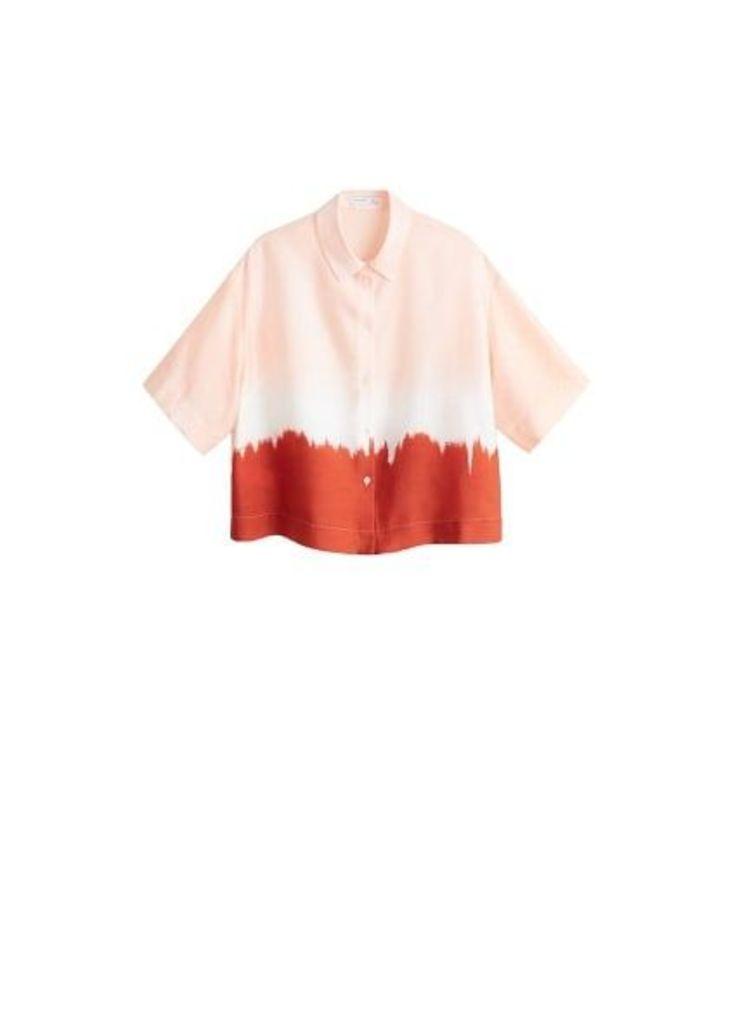 Tie-dye cropped shirt