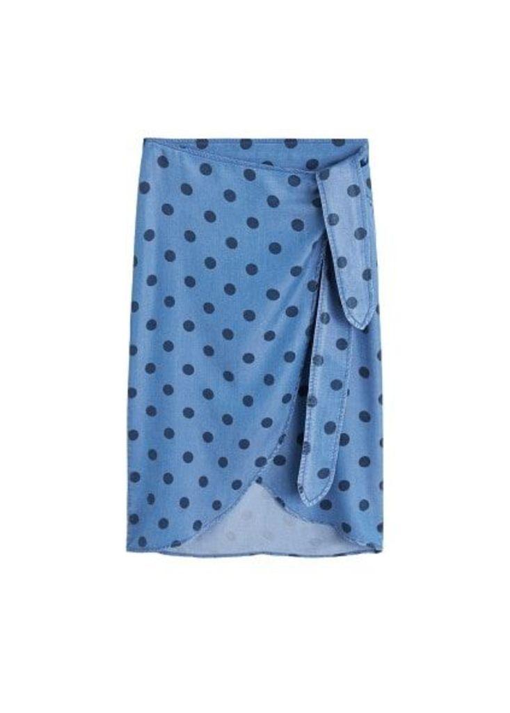 Wrap print skirt