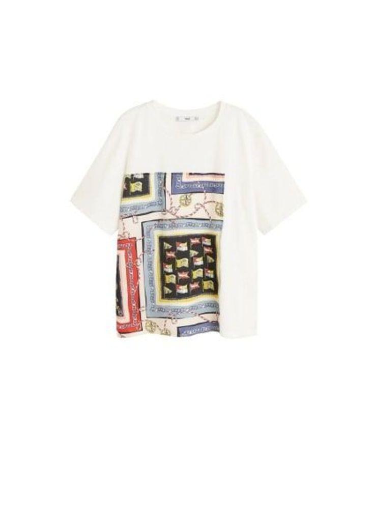 Scarf print t-shirt