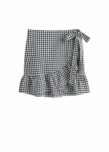 Gingham check miniskirt