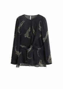 Printed chiffon blouse