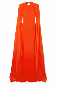 Alex Perry - Abigail Open-back Crepe Gown - Tomato red