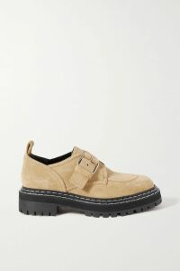 Cefinn - Twist-front Grosgrain-trimmed Voile Midi Dress - Dark green