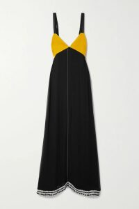 RE/DONE - Oversized Fringed Suede Blazer - Black