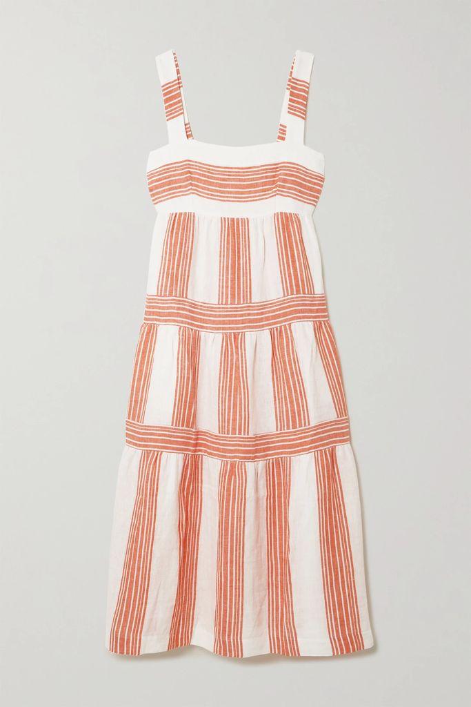 Isabel Marant - Eline Embroidered Cotton-voile Midi Dress - White