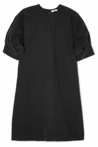 MATIN - Cortona Silk And Linen-blend Mini Dress - Black