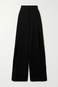 Gucci - Pleated Printed Cotton-twill Midi Skirt - Red