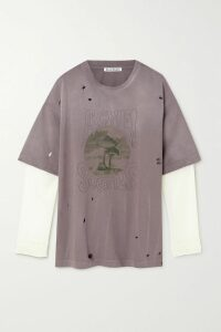 Caravana - Tecoh Leather-trimmed Fringed Cotton-gauze Skirt - Ecru