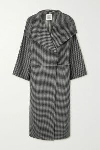 By Malene Birger - Dorie Tasseled Cotton And Silk-blend Crepon Dress - Black