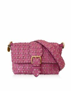 RED Valentino Designer Handbags, Flower Puzzle Leather Shoulder Bag