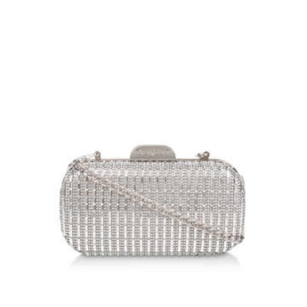 Carvela Gem2 - Silver Box Clutch Bag