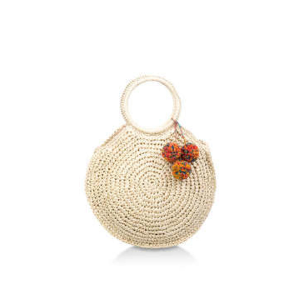 Aldo Yireng - Woven Circular Pom Pom Detail Bag