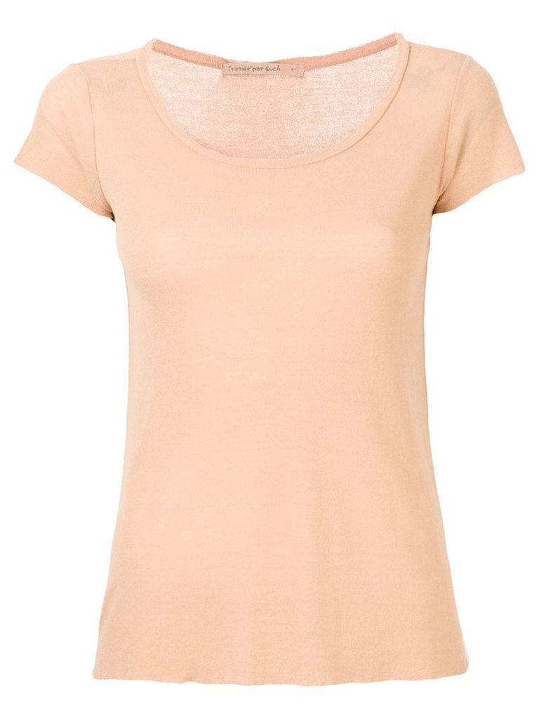 Transit round neck T-shirt - Neutrals