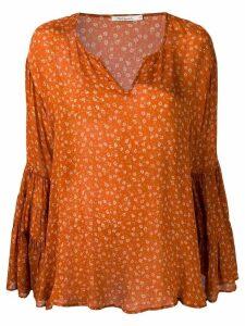 Mes Demoiselles all-over print blouse - Orange