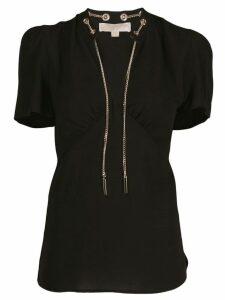 Michael Michael Kors chain fastening T-shirt - Black
