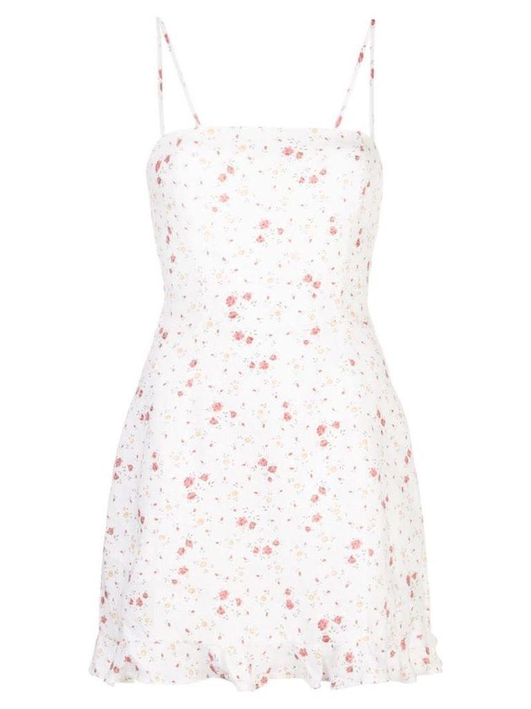 Reformation Kiernan floral print dress - White