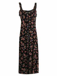 Andamane floral print midi dress - Black