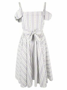 Vivetta cold-shoulder printed dress - White