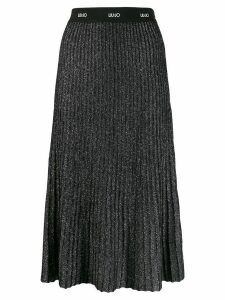 Liu Jo ribbed midi skirt - Black