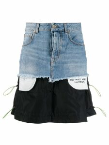 Unravel Project patchwork skirt - Blue