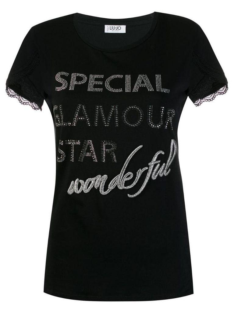 Liu Jo 'Special Glamour Star' T-shirt - Black