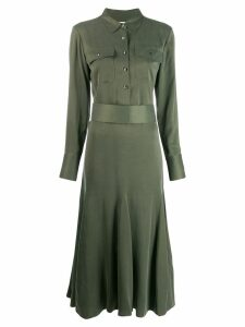Equipment longsleeved shirt dress - Green