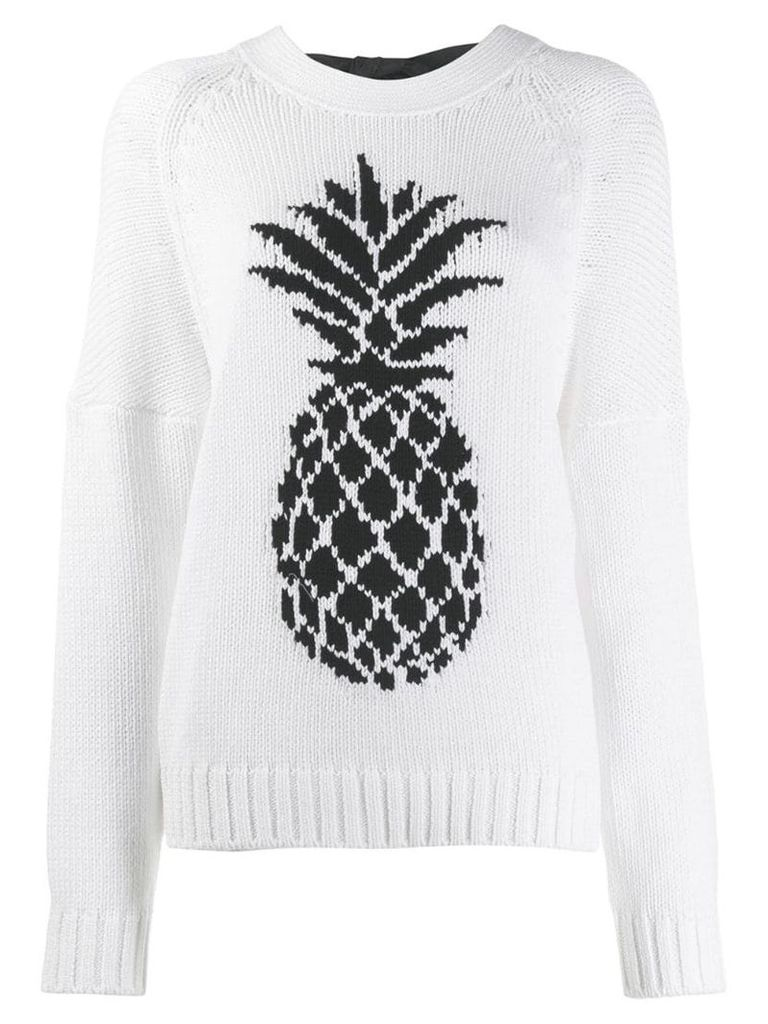 Nº21 Pineapple knit sweater - White