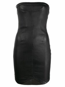 RtA strapless leather dress - Black