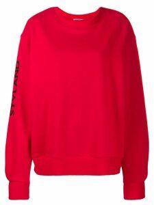 Styland logo sleeve print sweatshirt - Red