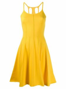 Dsquared2 open back flared dress - Yellow