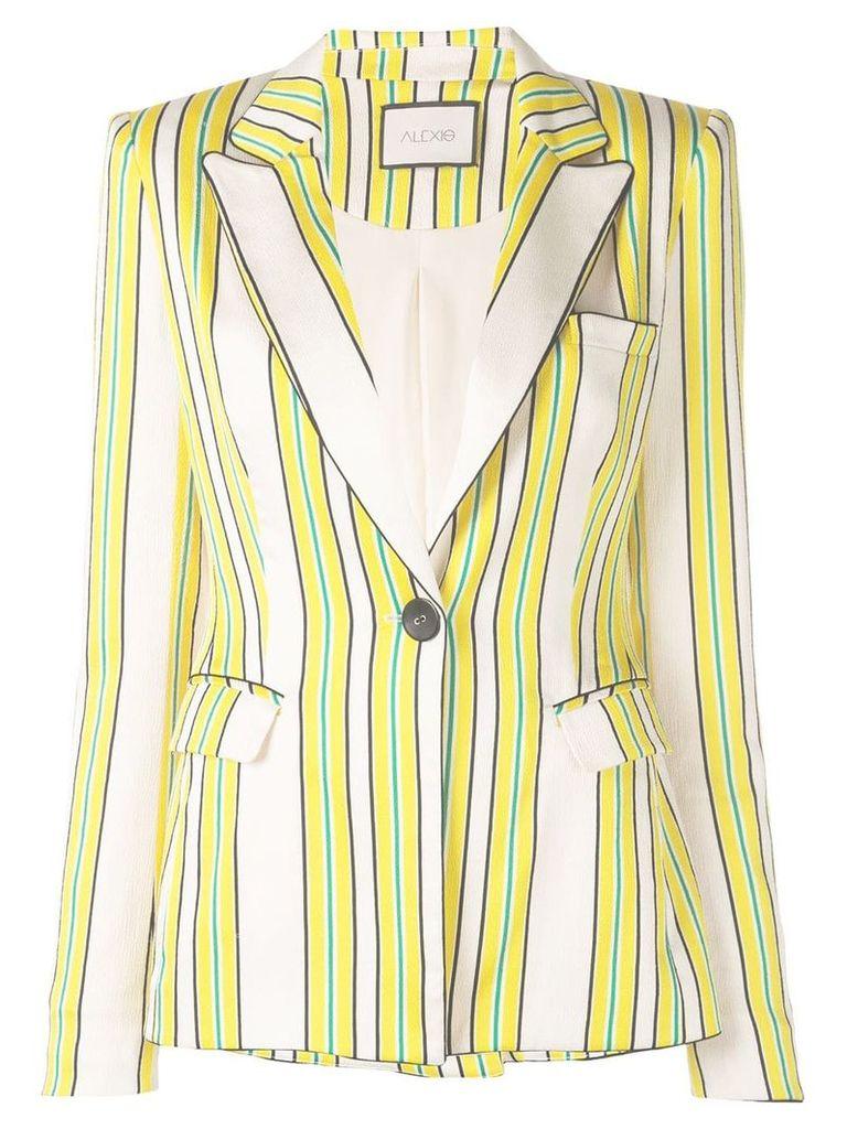 Alexis Edana striped satin blazer - Yellow