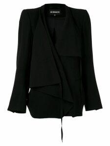 Ann Demeulemeester waterfall front blazer - Black