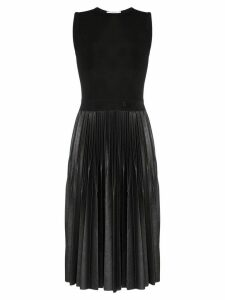Givenchy sleeveless pleated mid-length dress - Black