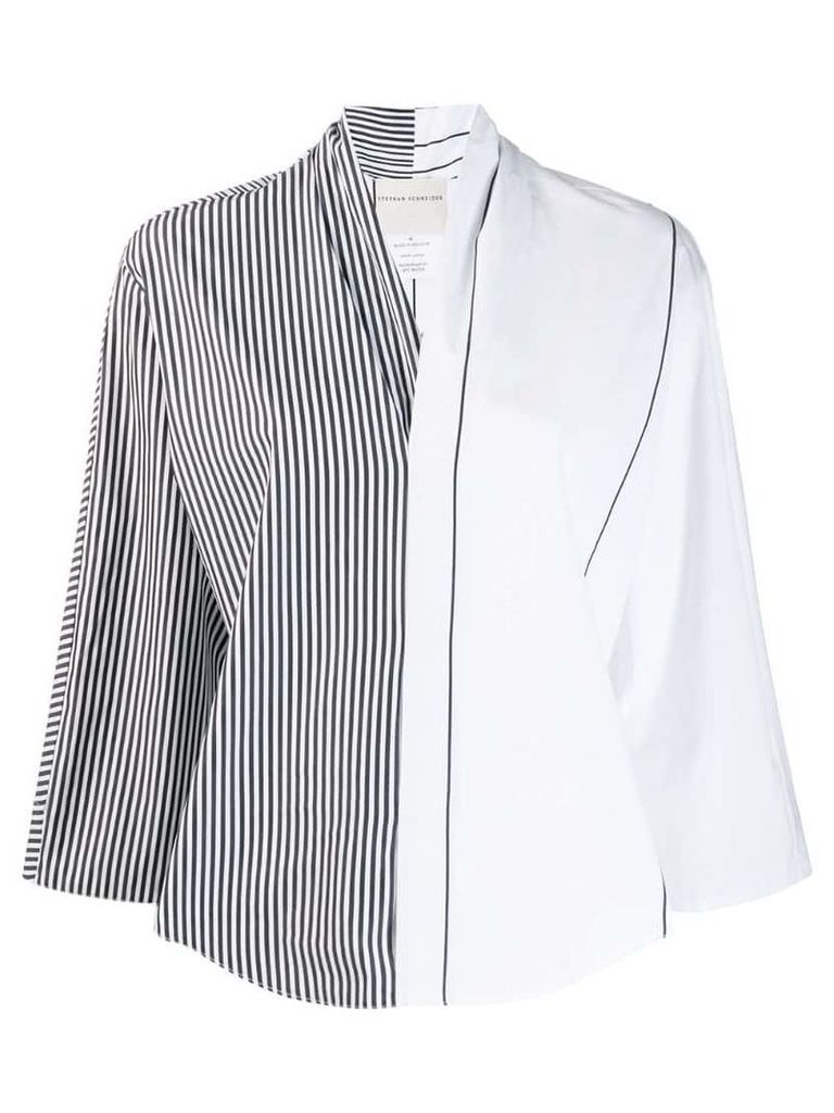 Stephan Schneider Distortion striped blouse - White