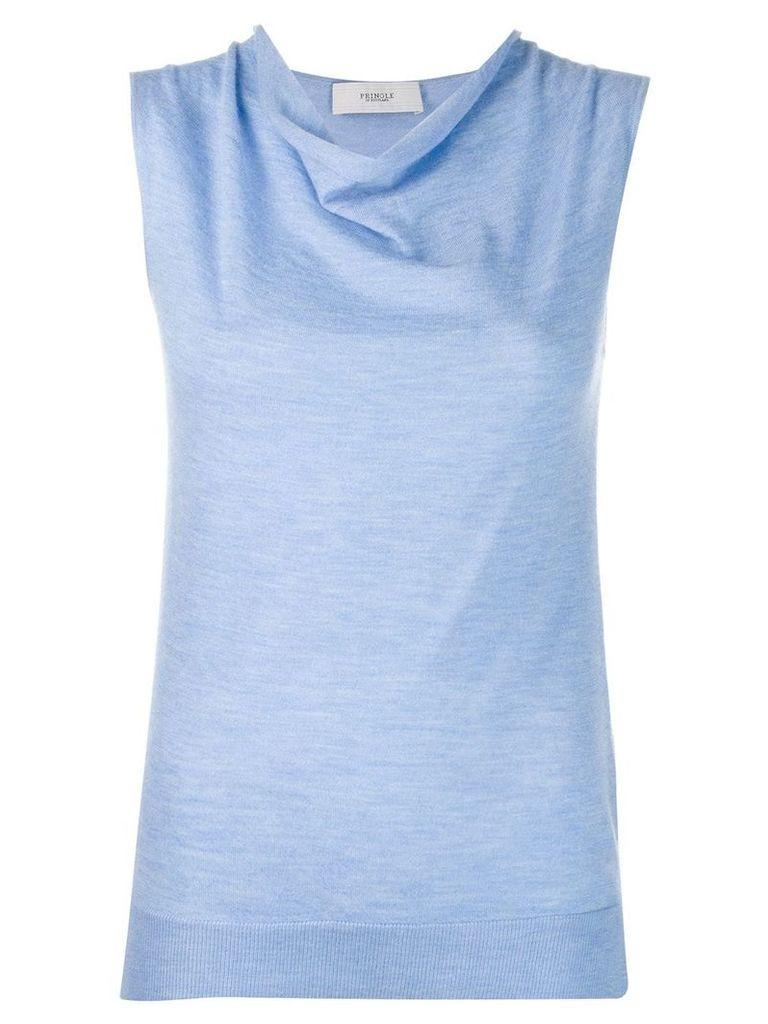 Pringle Of Scotland light knit tank top - Blue